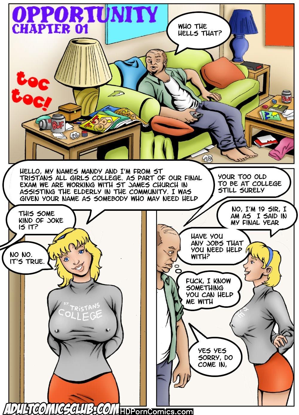 Adult Comic Sex Porn - Old Mans Opportunity Sex Comic – HD Porn Comics