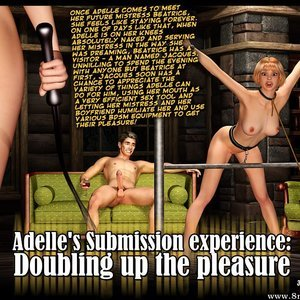 Porn Comics - Adelles Submission Experience – Issue 2 – Doubling up the Pleasure Sex Comic