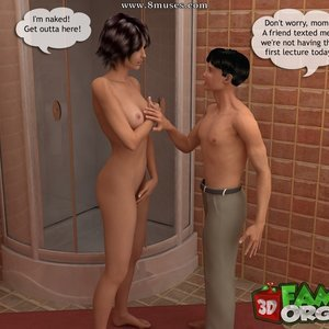 Spying on mother in the tub Sex Comic sex 006