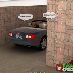 The daddy fuck a daughter in garage Sex Comic sex 003