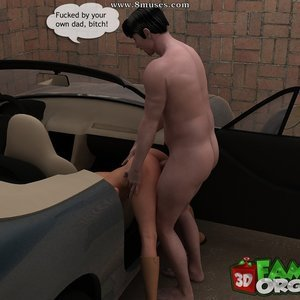 The daddy fuck a daughter in garage Sex Comic sex 022