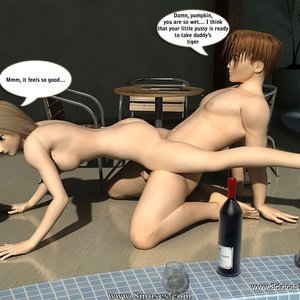 Crazy fuck next to the pool! Sex Comic sex 009
