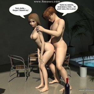Crazy fuck next to the pool! Sex Comic sex 010