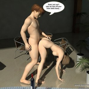 Crazy fuck next to the pool! Sex Comic sex 020