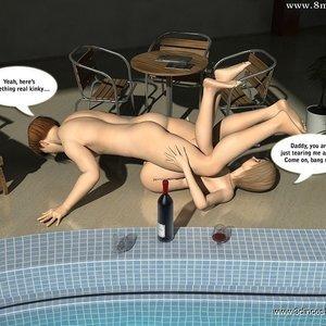 Crazy fuck next to the pool! Sex Comic sex 021