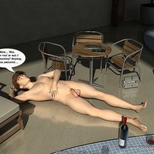 Crazy fuck next to the pool! Sex Comic sex 030