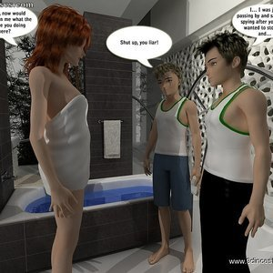 Mom shows her sons a couple of new mind-blowing sex tricks Sex Comic sex 005