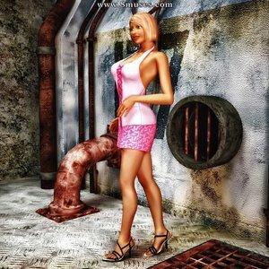 Porn Comics - Monster Fucking Cute Girls – Pink Dress in the Factory Sex Comic